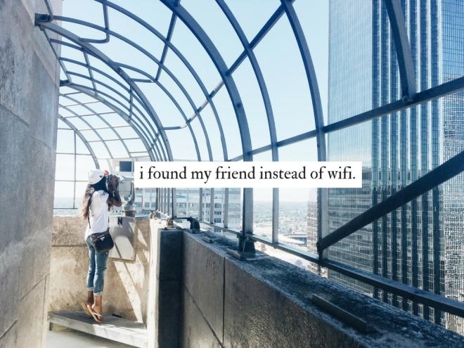 i found my friend instead of wifi. big