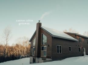 canvas cabin getaway.
